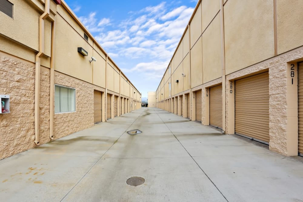 exterior storage units at A-1 Self Storage in Lakeside, CA