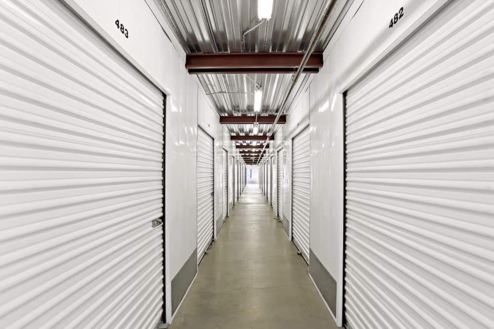 Interior storage units at A-1 Self Storage in Lakeside, CA