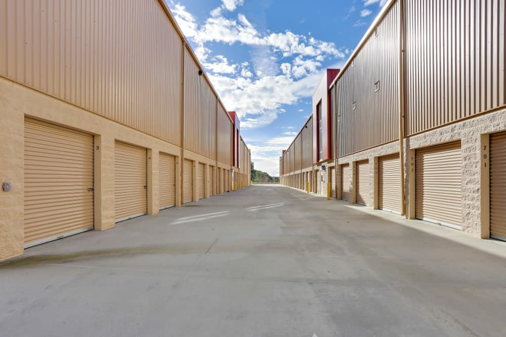 exterior storage units at A-1 Self Storage in San Diego, CA