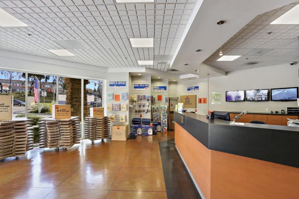 service desk at A-1 Self Storage in San Diego, CA