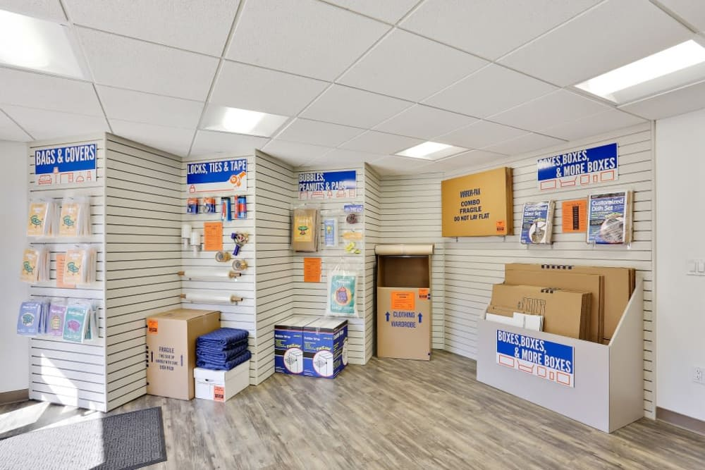 Packaging supplies sold at A-1 Self Storage in San Diego, California