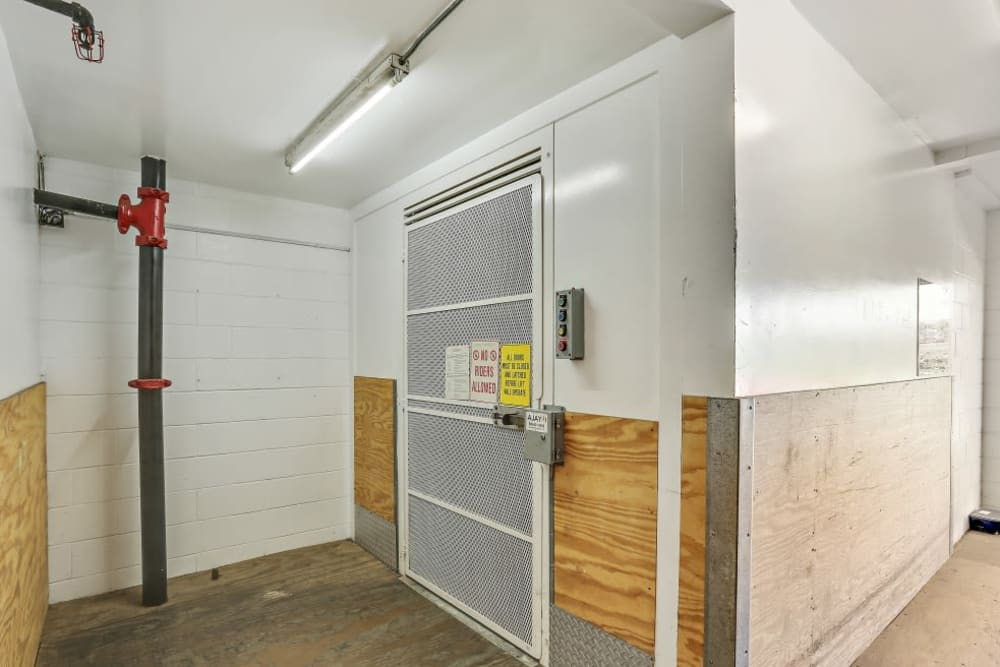 Indoor freight lift A-1 Self Storage in Oceanside, California