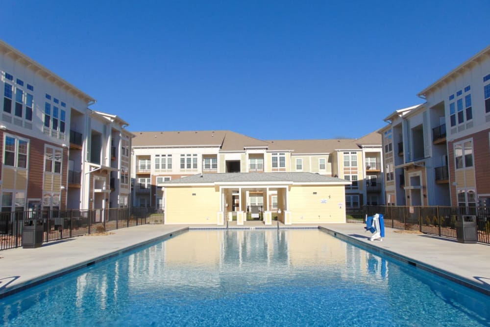 Watercourse Apartments offers a beautiful swimming pool in Graham, North Carolina
