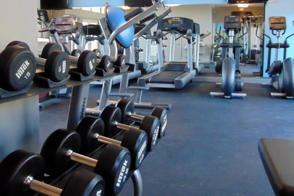 Watercourse Apartments offers a fitness center in Graham, North Carolina