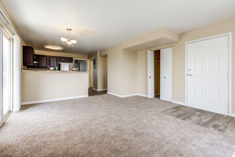 Living Room at Belle Creek Apartments in Henderson, Colorado