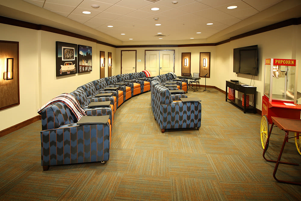 Theater at Prairie House Assisted Living and Memory Care in Broken Arrow, Oklahoma