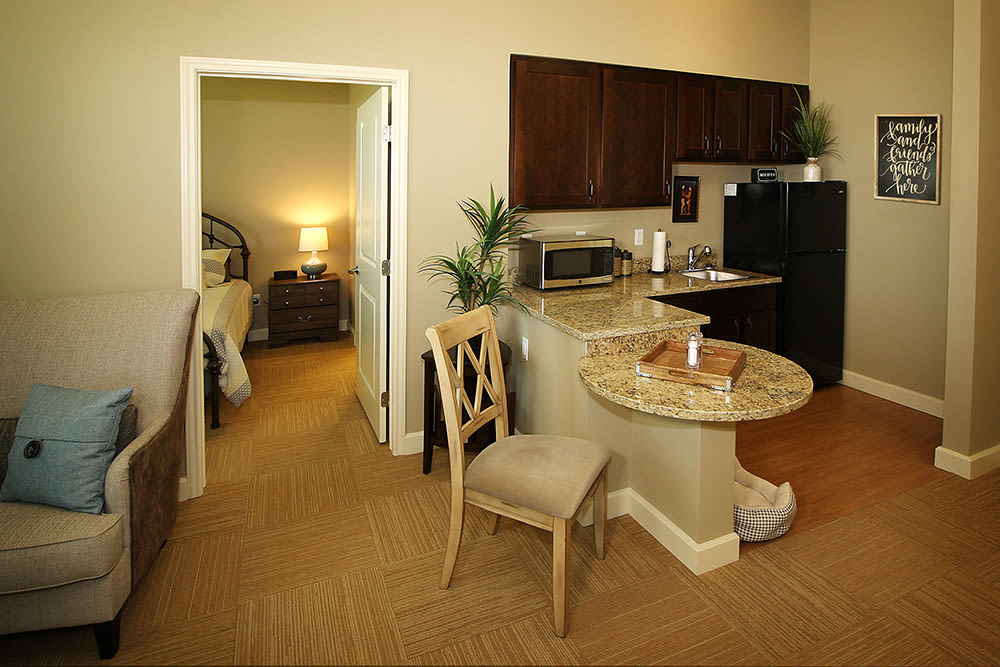 Model apartment at Prairie House Assisted Living and Memory Care in Broken Arrow, Oklahoma