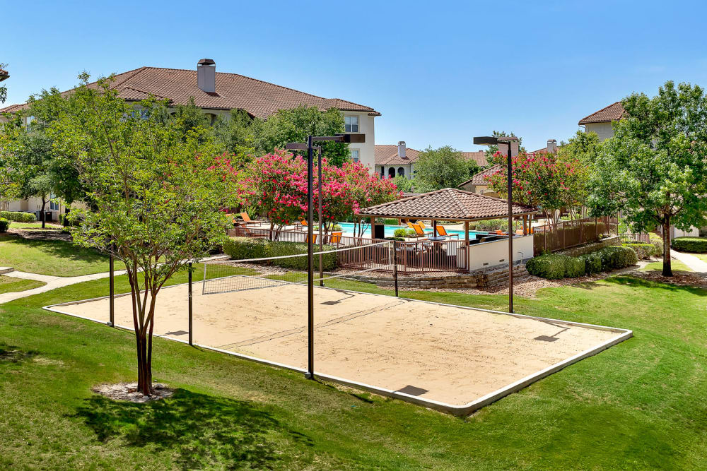 Sand volleyball court at Mira Vista at La Cantera in San Antonio, Texas