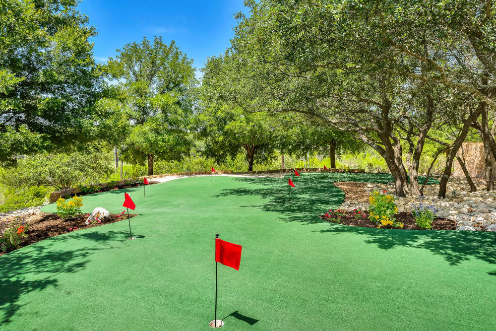 Mini golf court at Mira Vista at La Cantera in San Antonio, Texas