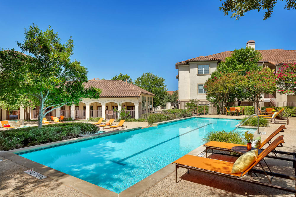 Luxury swimming pool at Mira Vista at La Cantera in San Antonio, Texas