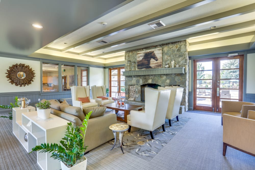 Spacious and well-decorated resident clubhouse at Big Trout Lodge in Liberty Lake, Washington