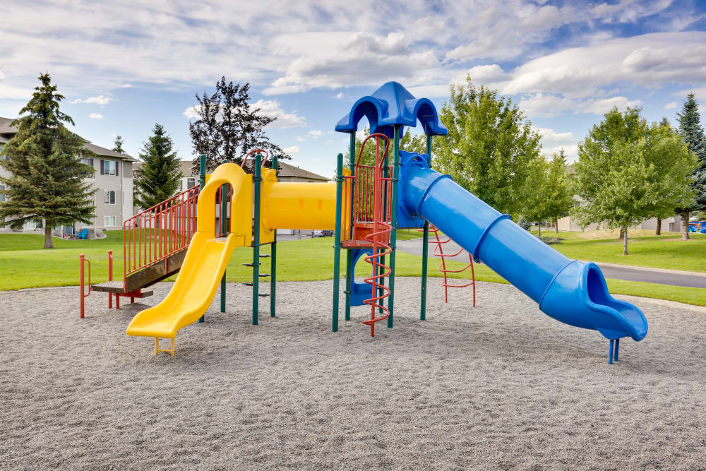 Onsite playground at Big Trout Lodge in Liberty Lake, Washington