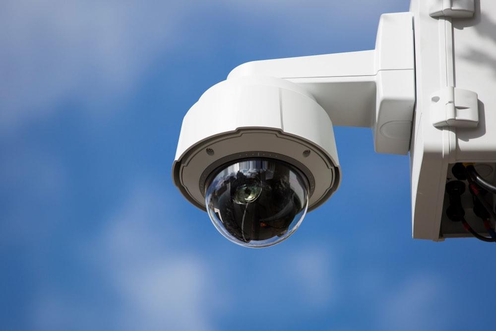 Security camera at Hall Road Ventures in Clinton Township, Michigan