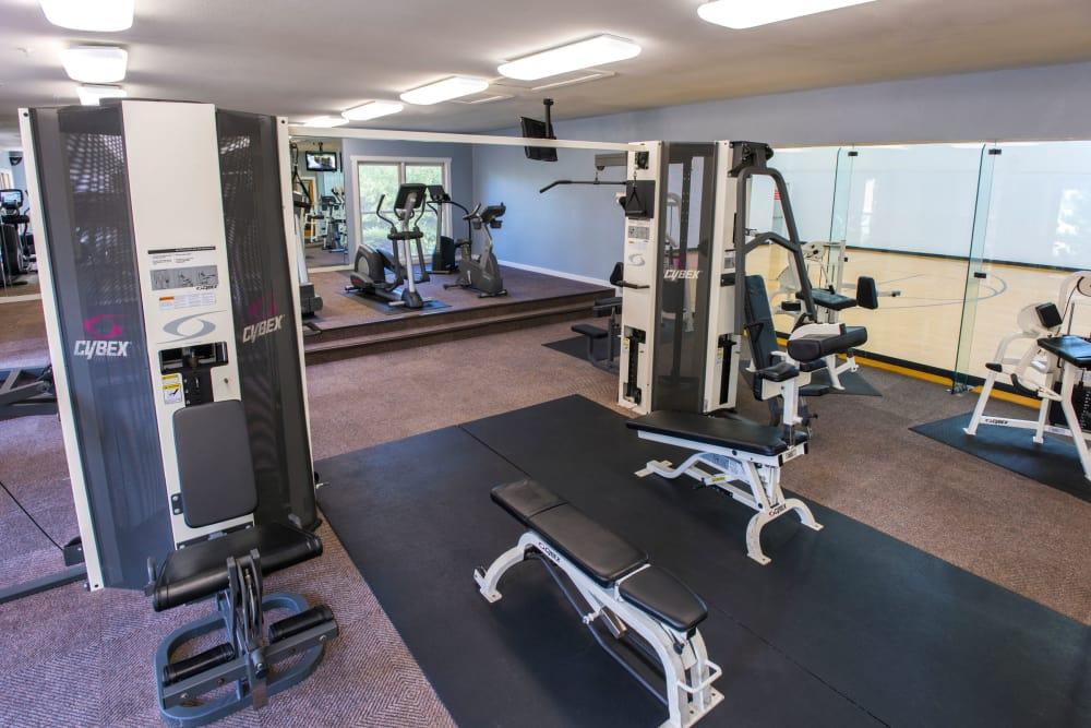 Spaious fitness center at El Lago Apartments in McKinney, Texas