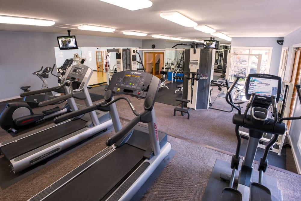Fitness center at El Lago Apartments in McKinney, Texas