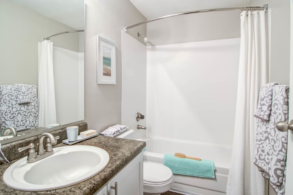 Montair at Somerset Hill offers an ample bathroom in Tumwater, Washington