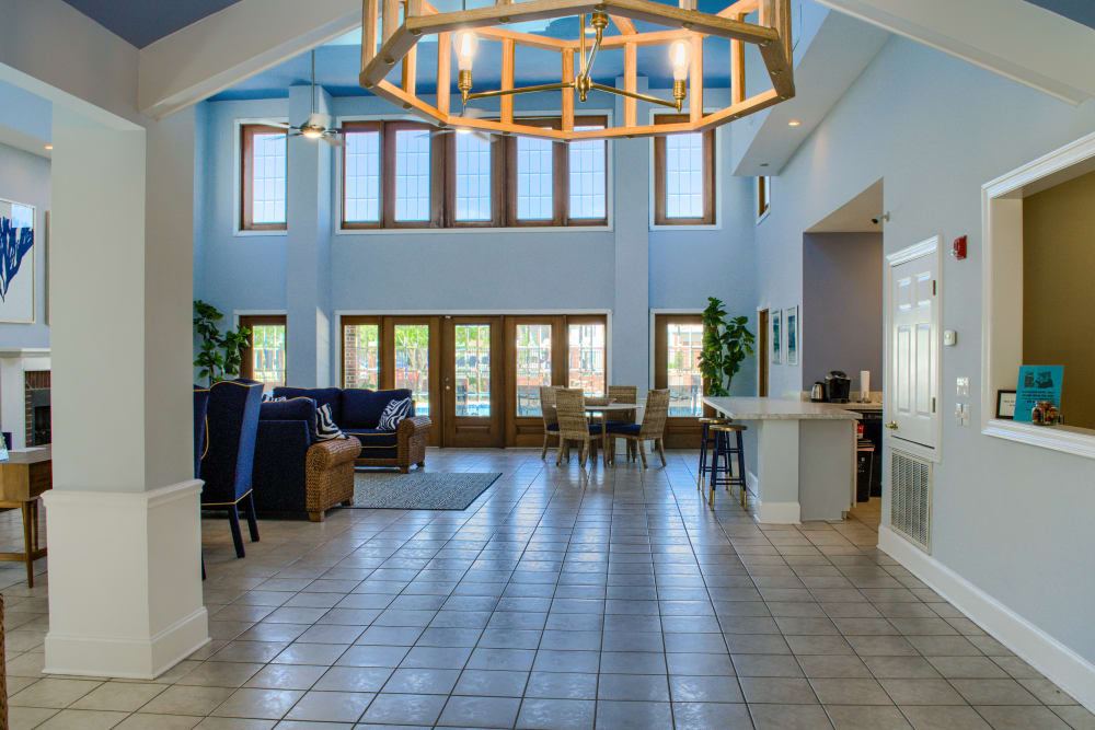 Clubhouse foyer at Oxford Point in Gulfport, Mississippi