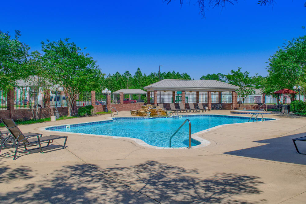 Resort-style pool at Oxford Point in Gulfport, Mississippi