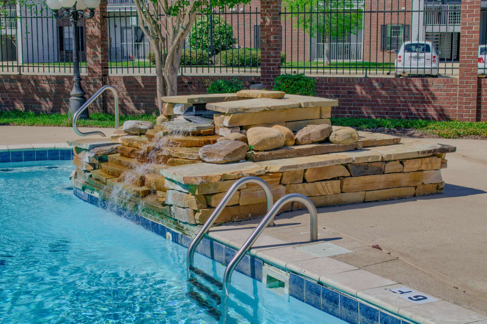 Pool with waterfall at Oxford Point in Gulfport, Mississippi
