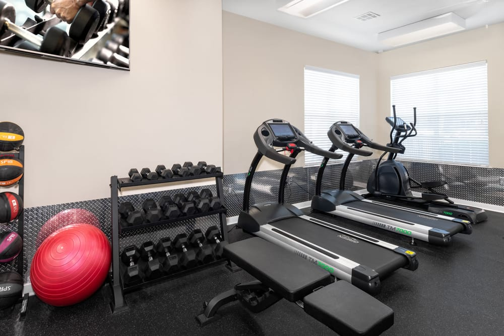Modern fitness center at Eagle Flatts in Hattiesburg, Mississippi