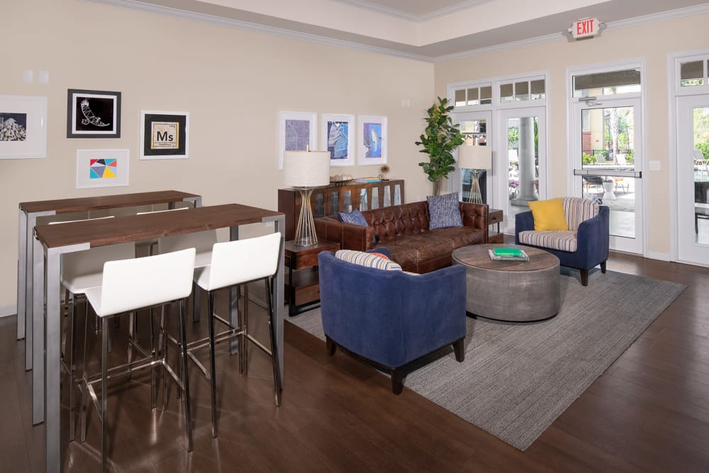 Enjoy apartments with a modern clubhouse at Eagle Flatts