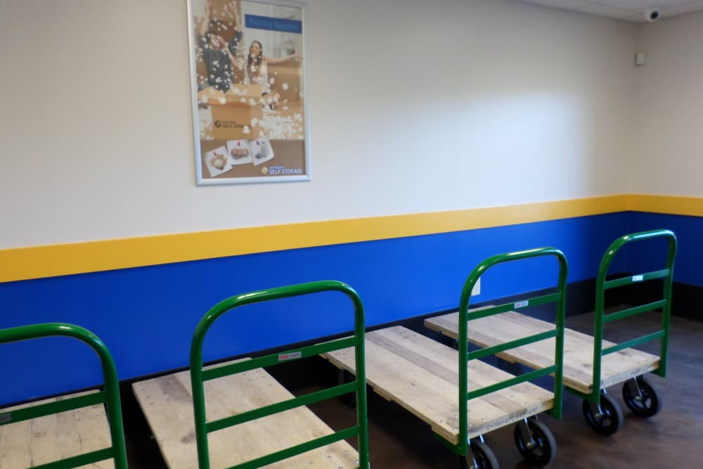 Moving carts provided at Compass Self Storage in Tavares, Florida
