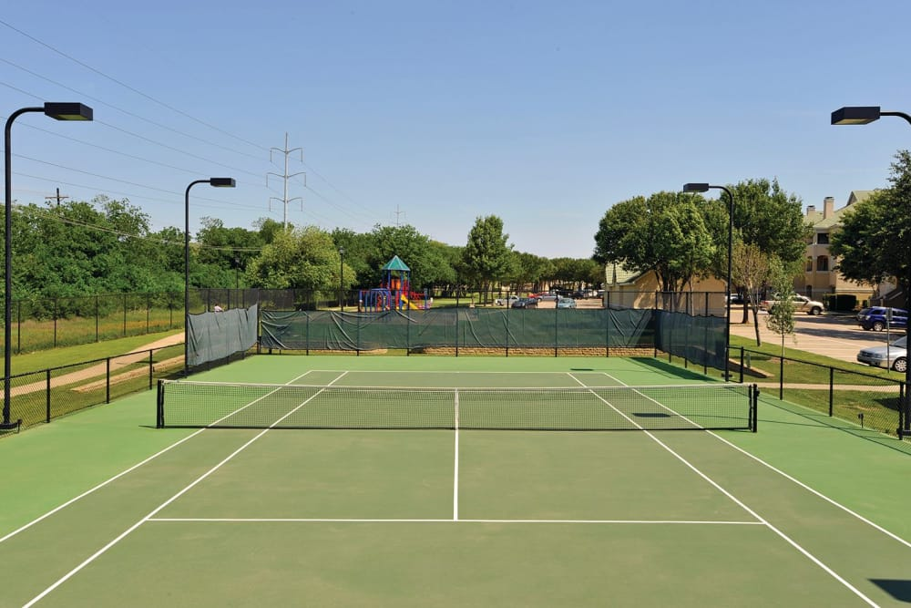 Tennis court at Lakeview at Parkside in Farmers Branch, Texas