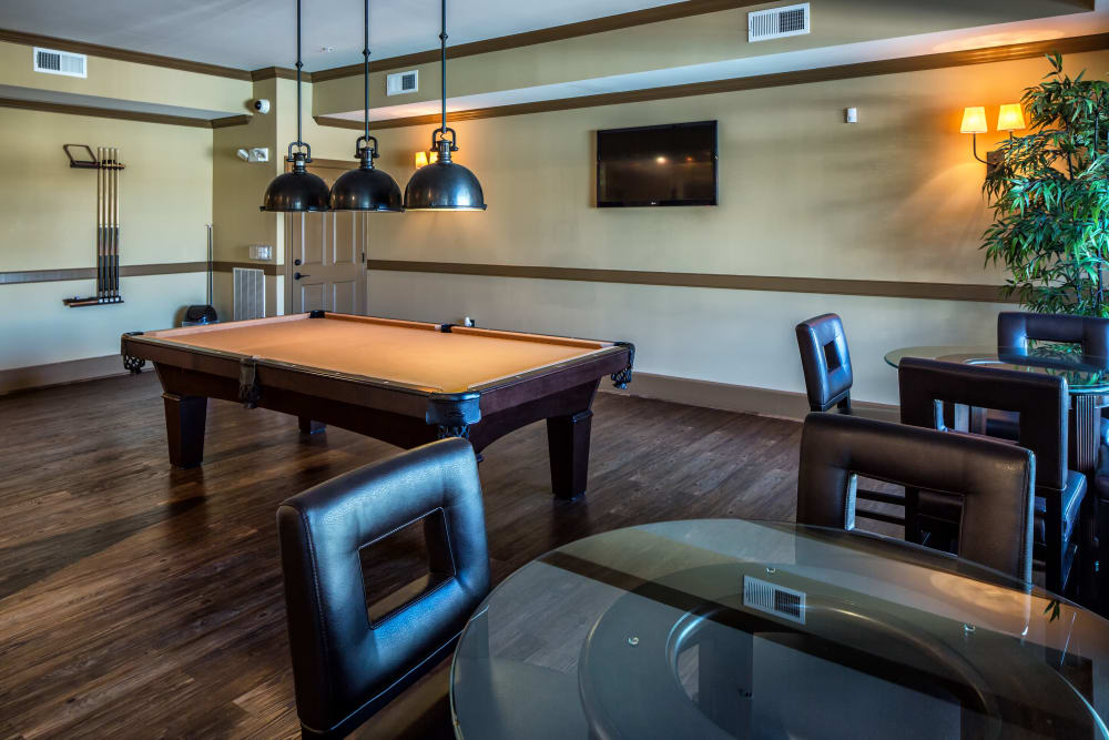 Billiard table at Enclave at Highland Ridge in Columbus, Georgia