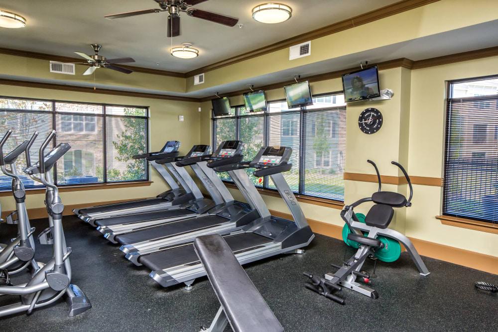 Fitness center at Enclave at Highland Ridge in Columbus, Georgia
