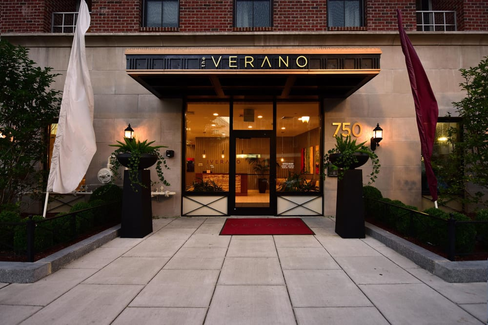 Entry view at The Verano in Stamford, Connecticut