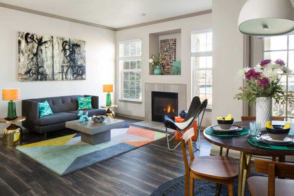 Living Room at Gateway Park Apartments in Denver, CO