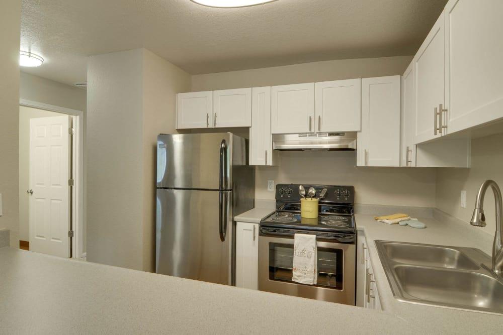 white renovated kitchen