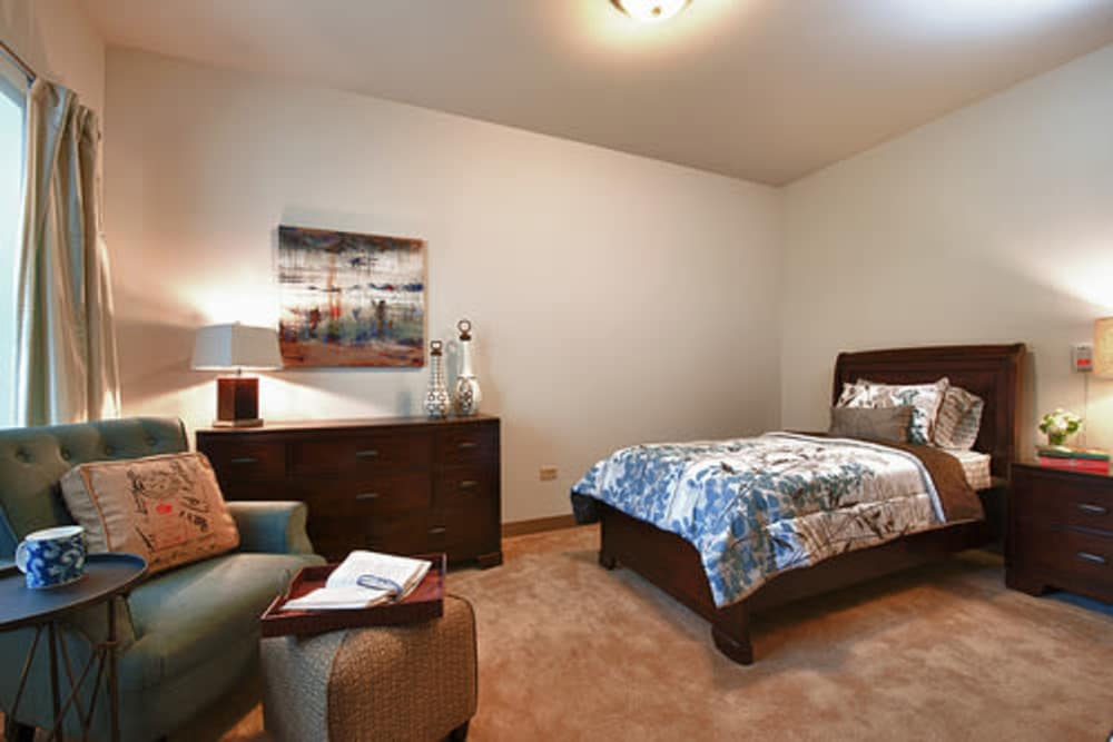 bedroom at Oak Hill Supportive Living Community