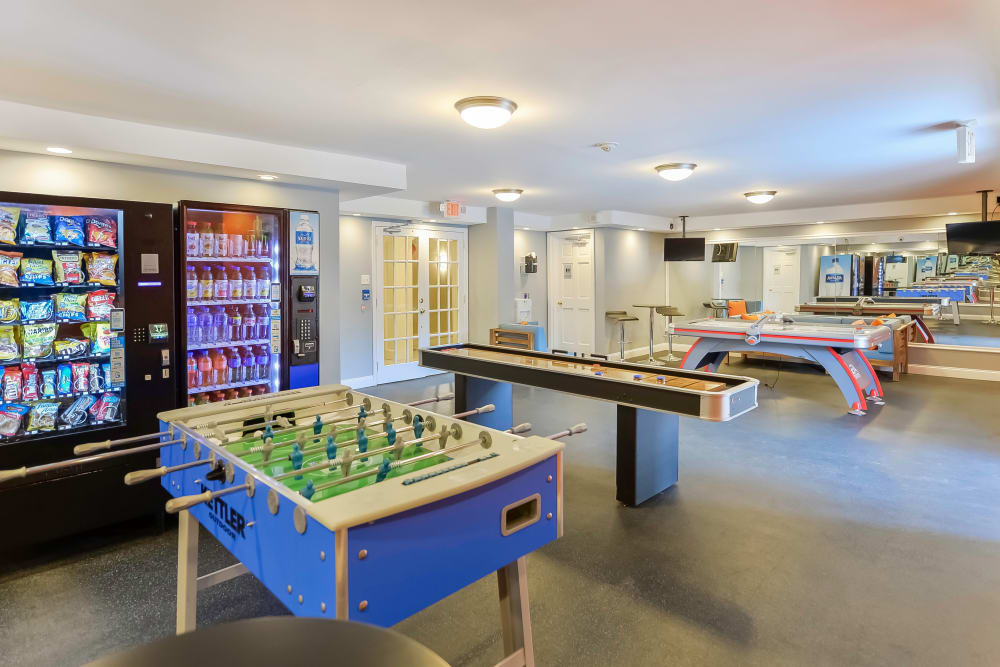 Enjoy Apartments with a Clubhouse Game Room at Place One Apartment Homes in Plymouth Meeting, Pennsylvania