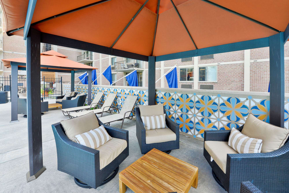 Outdoor Lounge at Place One Apartment Homes in Plymouth Meeting, Pennsylvania
