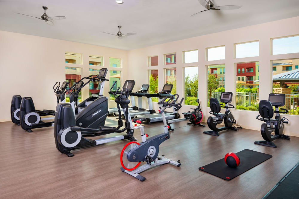Well equipped fitness center at Southern Avenue Villas in Mesa, Arizona