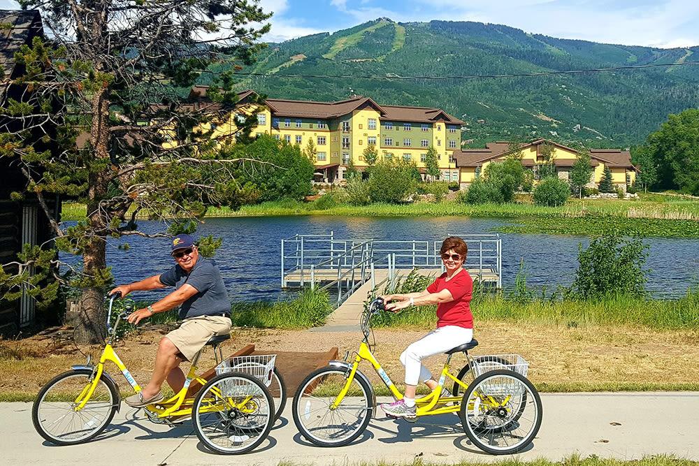 Cycling around Casey's Pond