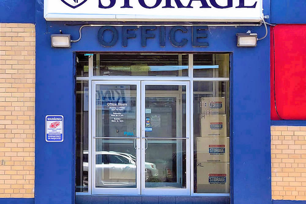 Front door of Prime Storage in Jamaica, New York