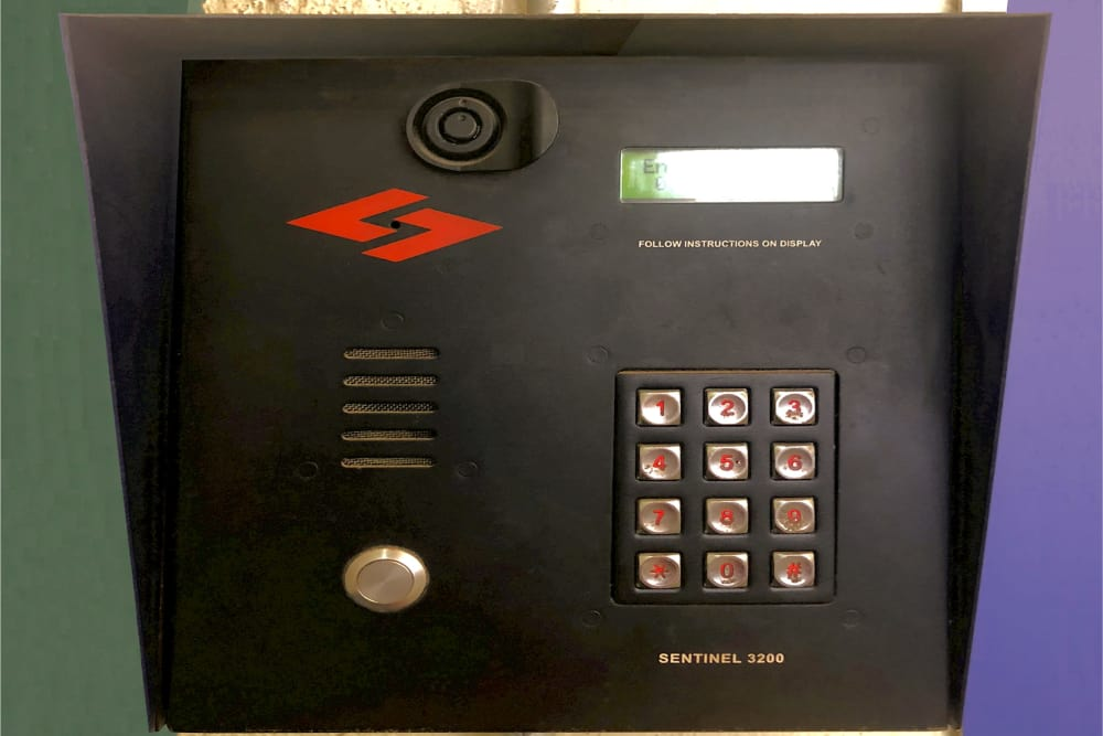 Security key pad at Prime Storage in Jamaica, New York