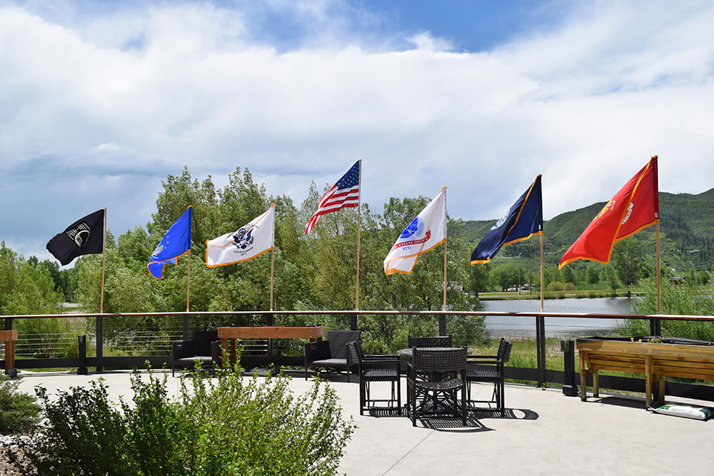 Branches Of Military Service Flags At Casey's Pond