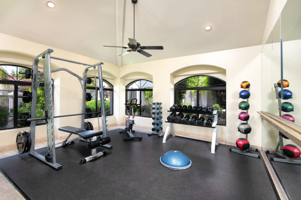 Fitness center at San Antigua in McCormick Ranch in Scottsdale, Arizona