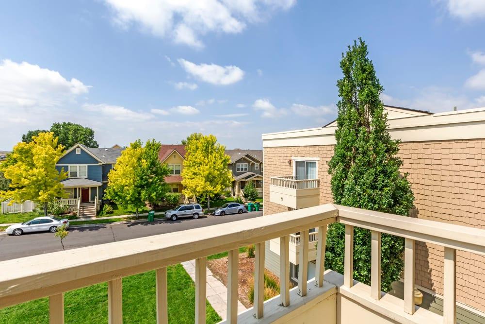 Private Balcony at Apartments in Henderson, Colorado