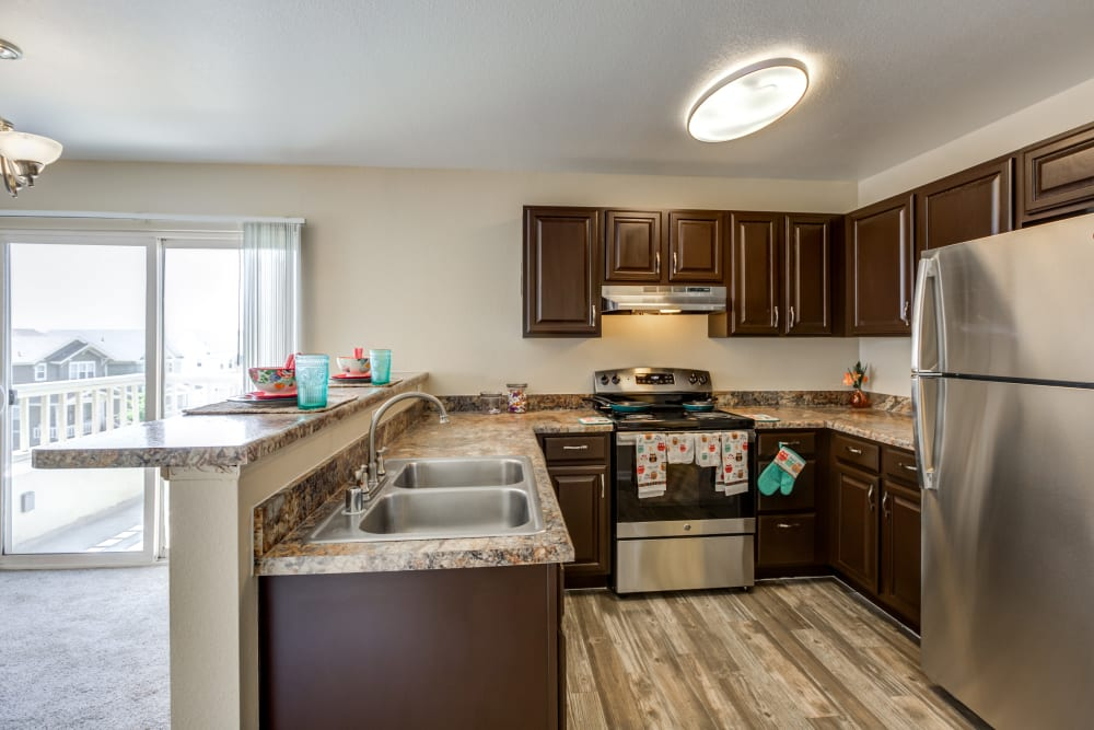Kitchen at Apartments in Henderson, Colorado