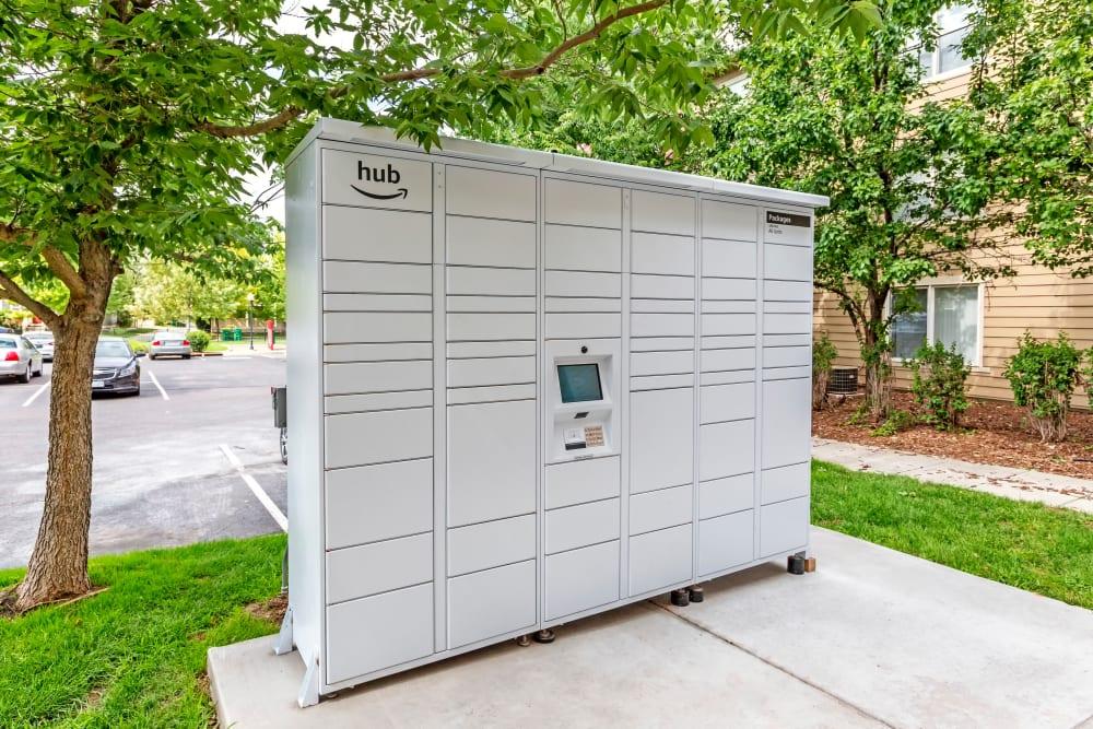 Package Lockers at Belle Creek Apartments in Henderson, Colorado