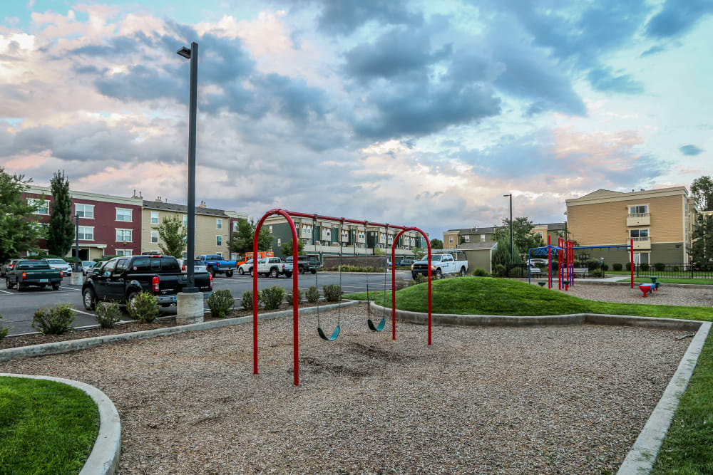 Playground at Belle Creek Apartments in Henderson, Colorado