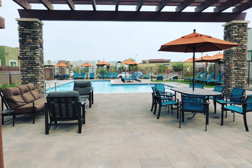 Community swimming pool at Avilla Victoria in Queen Creek, Arizona