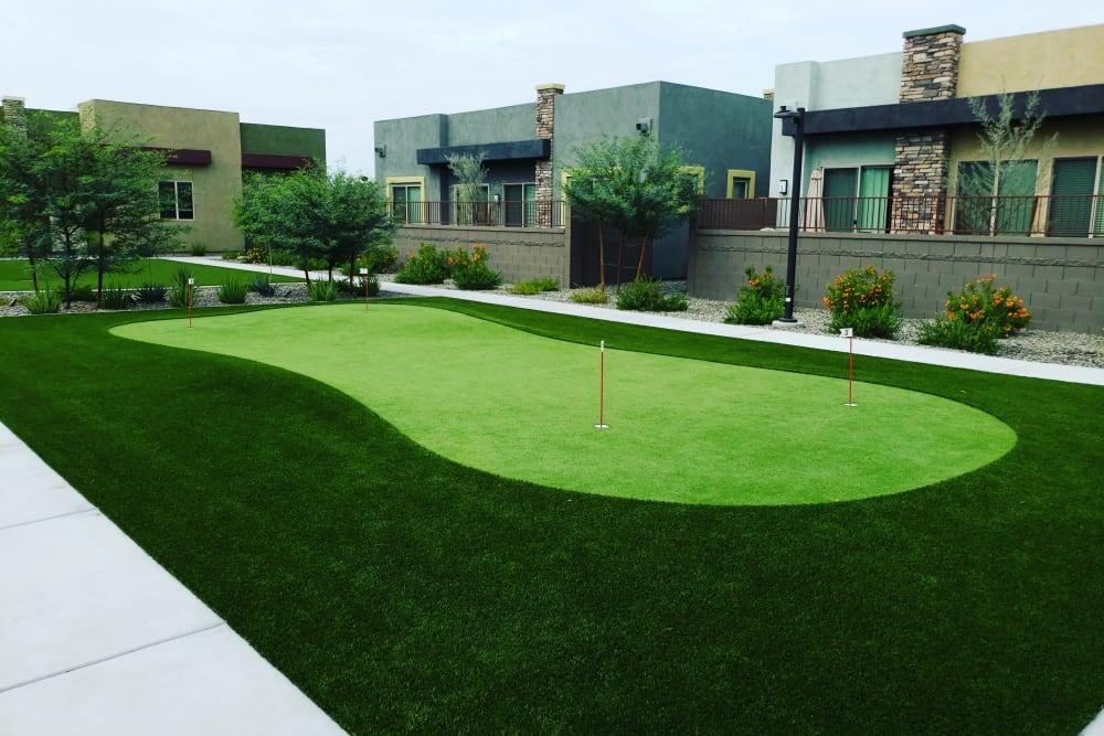 Putting green at Avilla Victoria in Queen Creek, Arizona