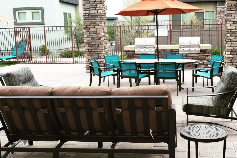 Outdoor seating at Avilla Victoria in Queen Creek, Arizona