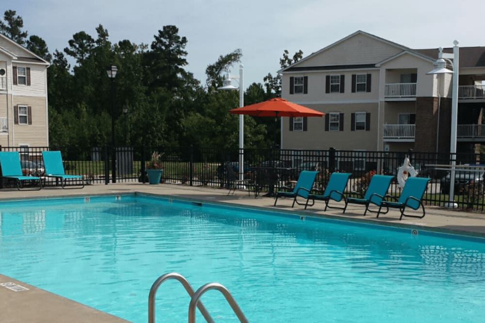 Enjoy a refreshing swimming pool at Autumn View Apartments in Fayetteville, North Carolina