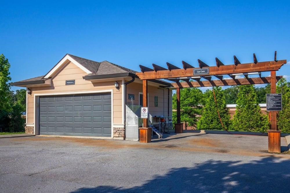 Enjoy a unique garage at Integra Hills Apartment Homes